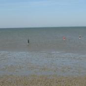 Ebbe, ablaufendes Wasser