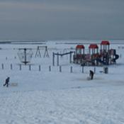 Strand Harlesiel im Winter